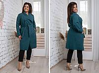 Пальто на запах с прорезными карманами,размеры:48,50,52,54., фото 1