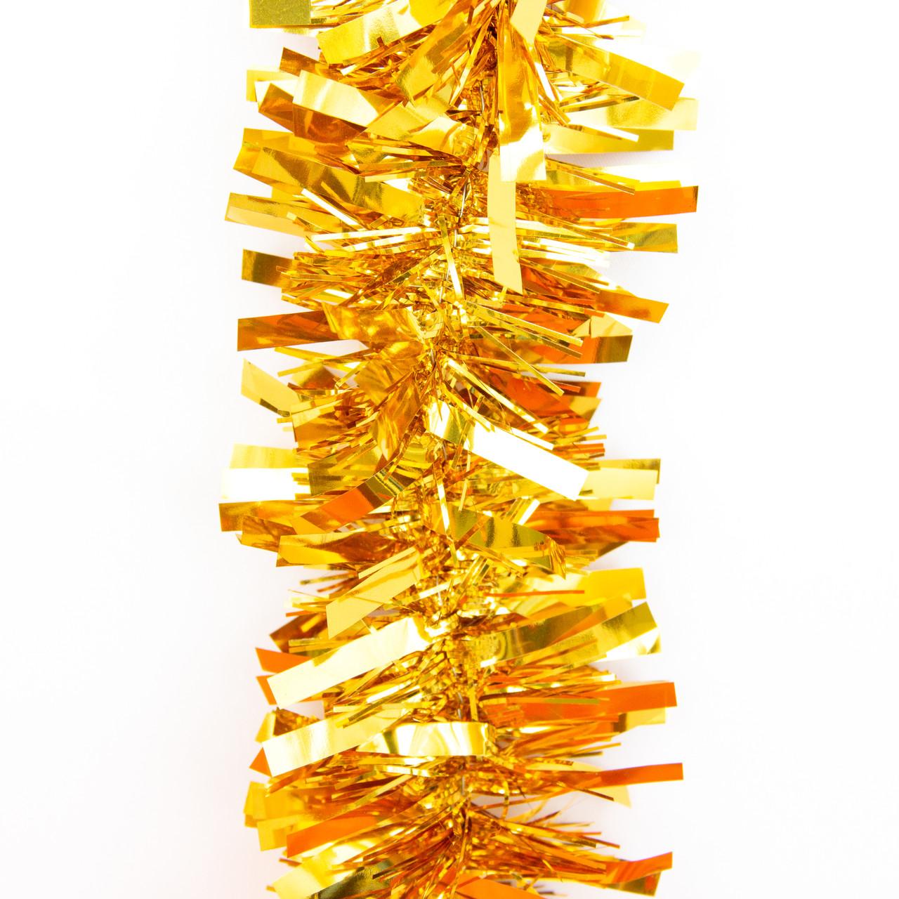 Новогоднее украшение - мишура, 200*7 см, ПВХ, золотистый (ГН-50/70/2-2)