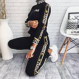 Женский костюм Fendi машинная вязка с лампасами, фото 3