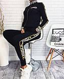 Женский костюм Fendi машинная вязка с лампасами, фото 4