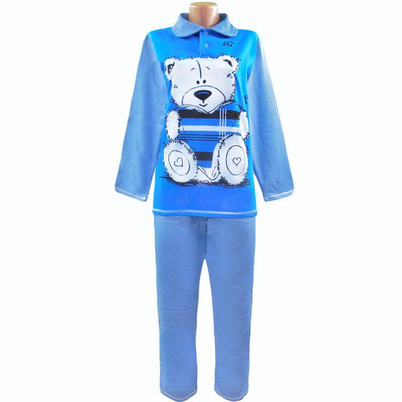 Пижама теплая начесная Мишка оптом и в розницу