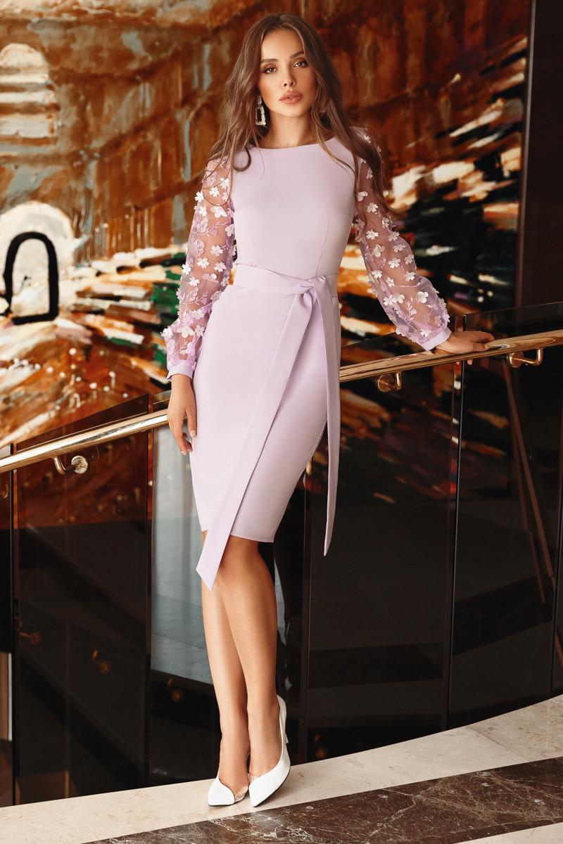 Нарядное женское платье Лиловый