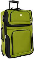 Дорожный чемодан на колесах Bonro Best маленький зеленый