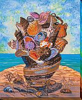"""Набор для вышивки бисером на натуральном художественном холсте """"Море с собой"""""""
