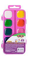 Фарби акварельні 10 кол., рожева, ZB.6543-12