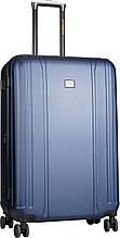 Пластиковый чемодан CAT Orion, на 4 колесах, большой, 90 л, синий