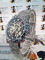 Механические мужские Наручные Часы с автоподзаводом на браслете