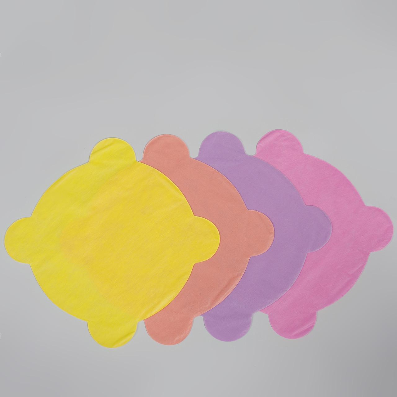 Салфетки для стоматологической чаши плевательницы из спанбонда, разноцветные (50шт в упаковке) (4823098704935)