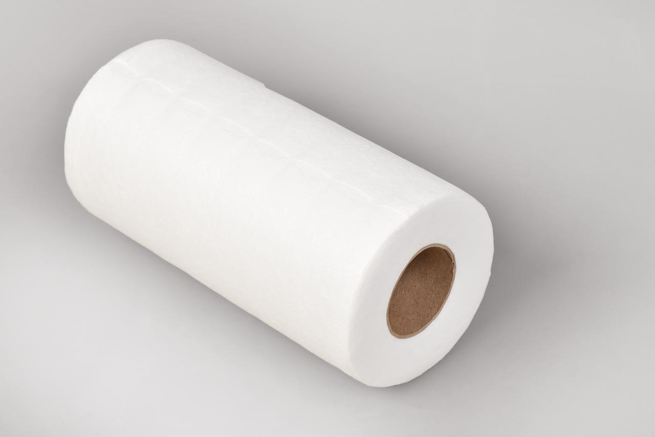 Салфетки в рулоне 20х20см Polix PRO&MED (100 шт/рул) со спанлейса 40 г/м2 с перфорацией