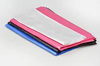 Пеньюар для парикмахерских работ 0.9*1.6м (50шт в упаковке) из полиэтилена, прозрачный, синий, розовый, черный