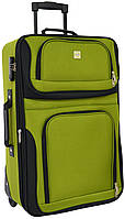 Дорожный чемодан на колесах Bonro Best средний зеленый, фото 1