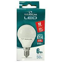 Лампочка  светодиодная Titanium G45  6W E14 4100K шар
