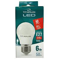Лампочка  светодиодная Titanium G45  6W E27 4100K шар