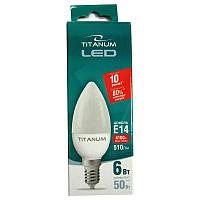 Лампочка  светодиодная Titanium С37  6W E14 4100K
