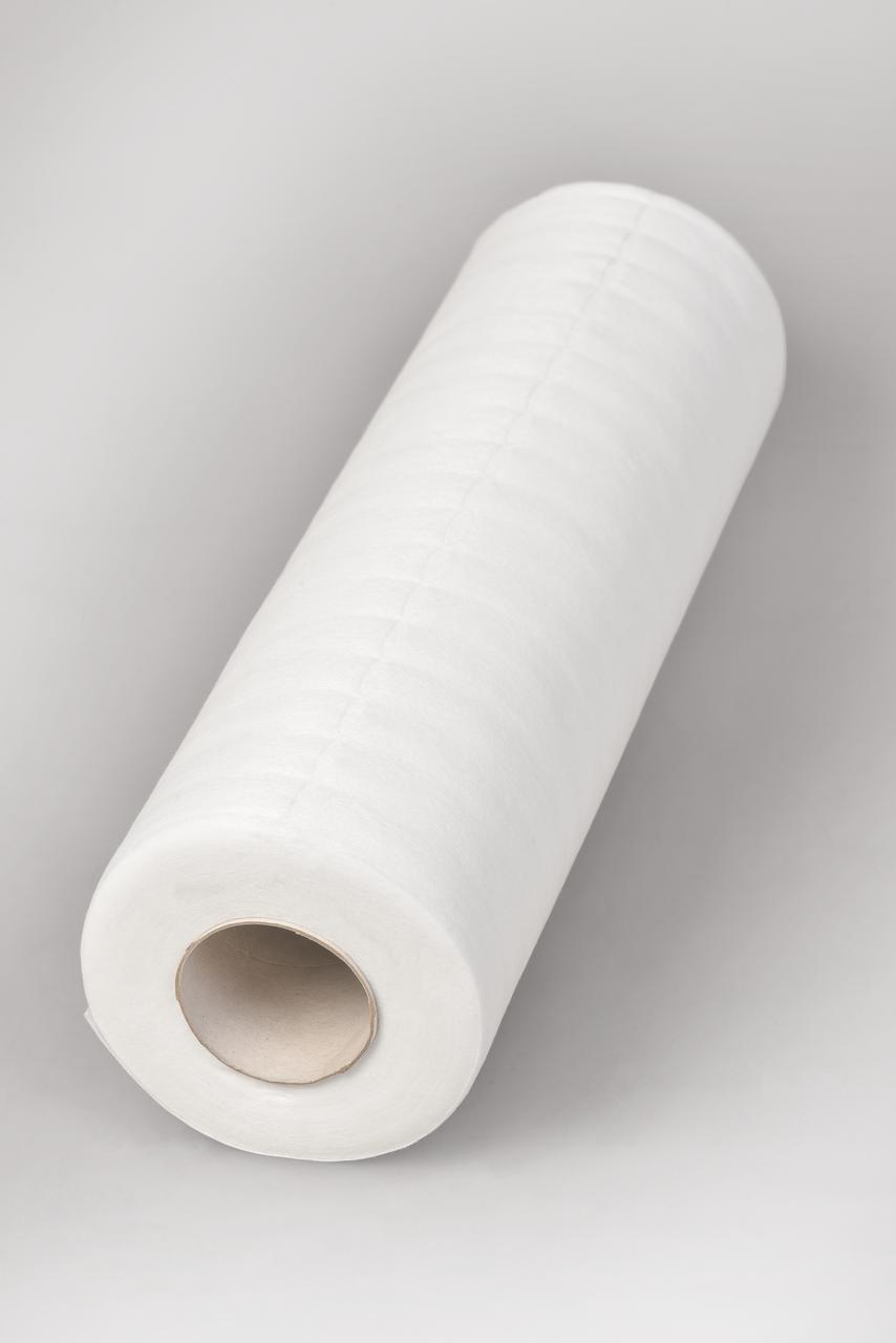 Салфетки в рулоне 30х40см Polix PRO&MED (100 шт/рул) со спанлейса 40 г/м2 с перфорацией