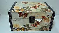 Шкатулка для украшений Бабочки размер 18*13*7