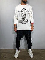 Мужской свитшот Black Island ada1091 white, фото 1