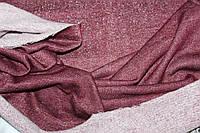 Бордо. Ткань трехнитка с махрой петля,  слабый люрекс, фото 1