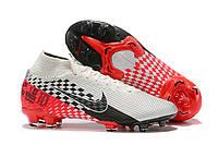 Футбольные бутсы Nike Mercurial Vapor XIII Elite Neymar DF FG Chrome/Black/Red Orbit/Platinum Tint, фото 1
