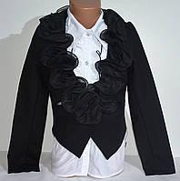 Школьный пиджак для девочки Чёрный. 122-152, фото 1