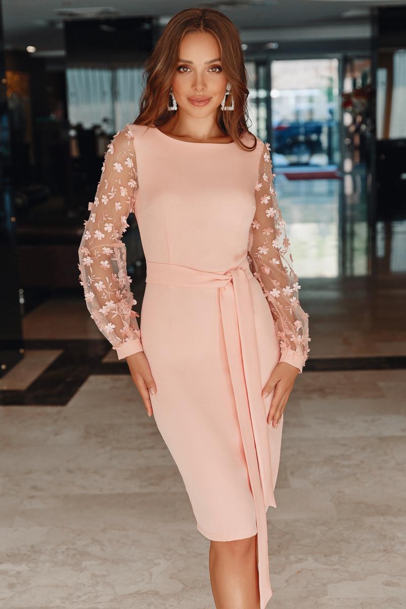 Нарядное женское платье Персиковый