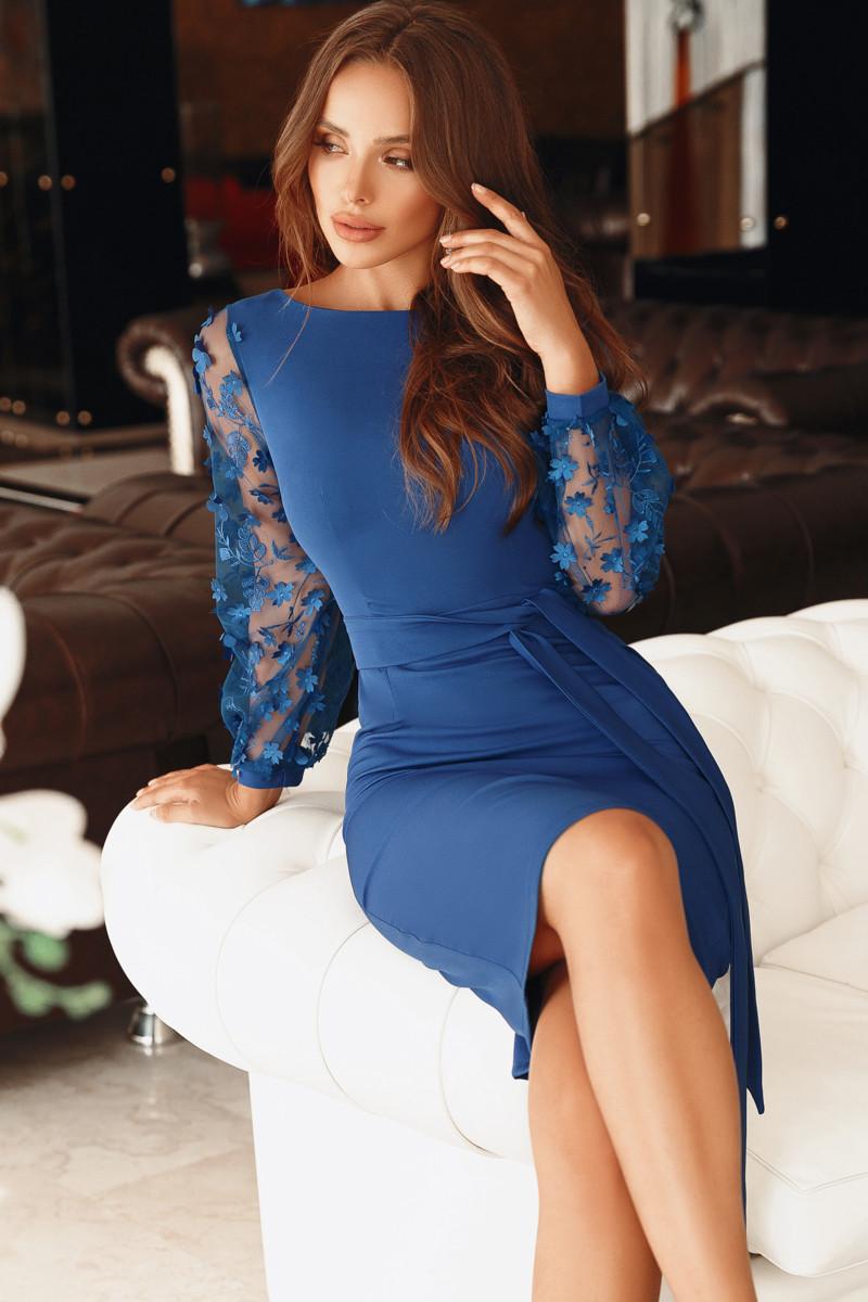 Нарядное женское платье Электрик