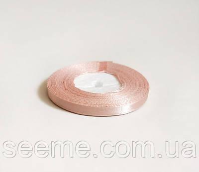 Лента атласная, 6 мм, цвет кремовая роза