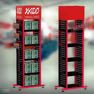 Напольные торговые стойки XADO