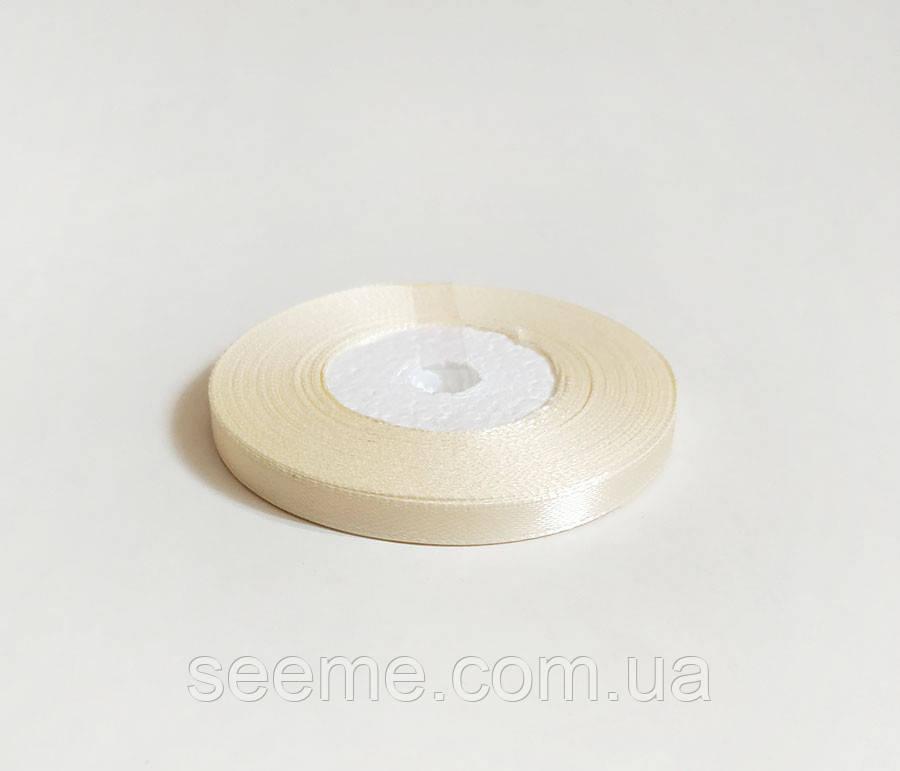 Стрічка атласна, 6 мм, колір молочний