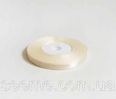 Лента атласная, 6 мм, цвет молочный