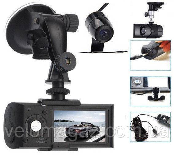Видеорегистратор с двумя камерами + GPS x3000