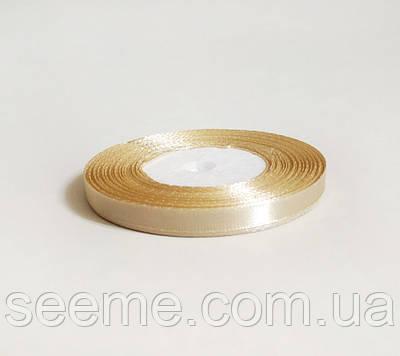 Лента атласная, 6 мм, цвет кофе с молоком