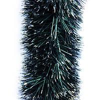 Новогоднее украшение - мишура, 300*12 см, ПВХ, зелено-серебристый (ГК-120/3-3)