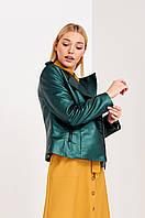 Оригинальная зеленая женская куртка