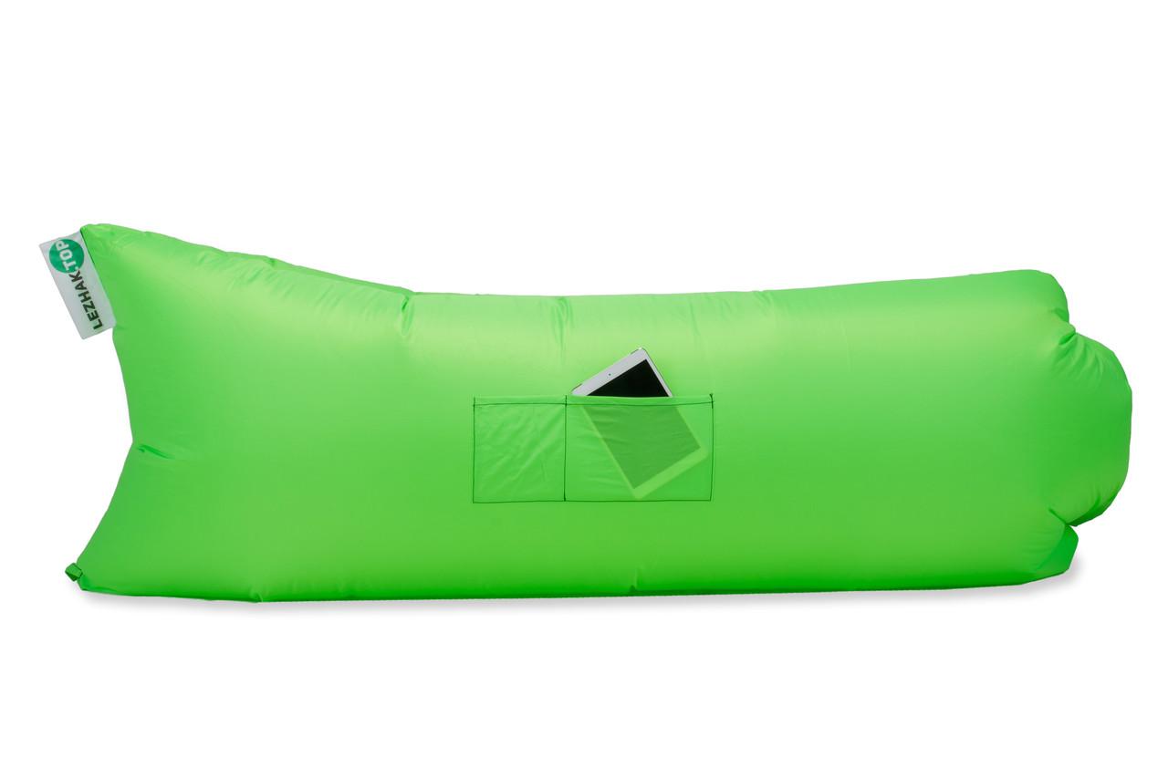 Надувной шезлонг Оxford pu зеленый неон
