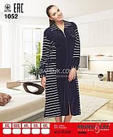 Женский велюровый халат на молнии Romeo&Life (большие размеры) № RL-1052
