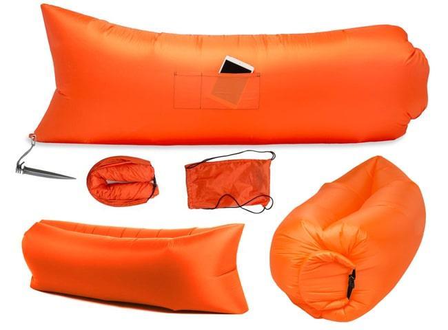 Надувной шезлонг Оxford pu оранжевый