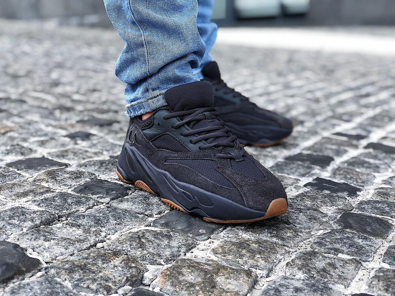 "Кроссовки мужские Adidas Yeezy 700 Boost ""Utility Black"" (Размер:45)"