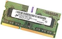 Оперативная память для ноутбука Micron DDR3L 4Gb 1600MHz PC3L-12800S CL11 (MT8KTF51264HZ-1G6E1) Б/У