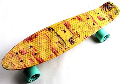 Скейтборд Fish з малюнком Пальми 2