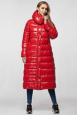 Зимняя женская куртка-пальто KTL-363 из новой коллекции KATTALEYA красная, фото 2