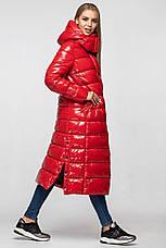 Зимняя женская куртка-пальто KTL-363 из новой коллекции KATTALEYA красная, фото 3