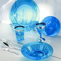 Тарелки глубокие пластиковые, термостойкие для детского праздника, детского дня рождения  CFP 6 шт 300 мл., фото 1