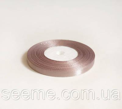 Лента атласная, 6 мм, цвет пыльный бежевый