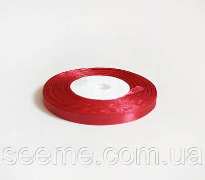 Лента атласная, 6 мм, цвет красный