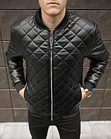 Куртка мужская кожаная до 0* Tigr Black / осенняя весенняя