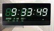 Часы настенные электронные цифровые MOD-3515-1 ( зеленый )