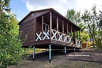 Дачный домик 7м х 3м из блокхауса с террассой, фото 1