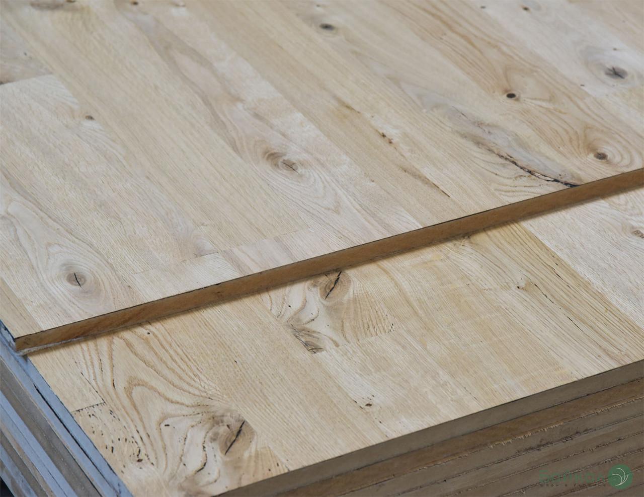 Эксклюзивная МДФ плита шпонированная Дубом в сучках (под паркет) 19 мм 2,8x1,033 м
