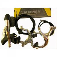 Набор шоссейных тормозов Alhonga из 2-х тормозных ручек, 2-х крабов (рич 45-59 мм), набора тросов и рубашек